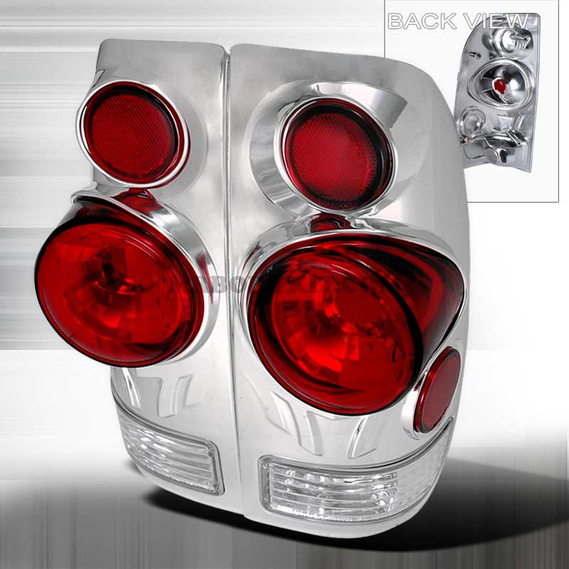 1997-2003 Ford F-150 3D Style Altezza Tail Lights - Chrome