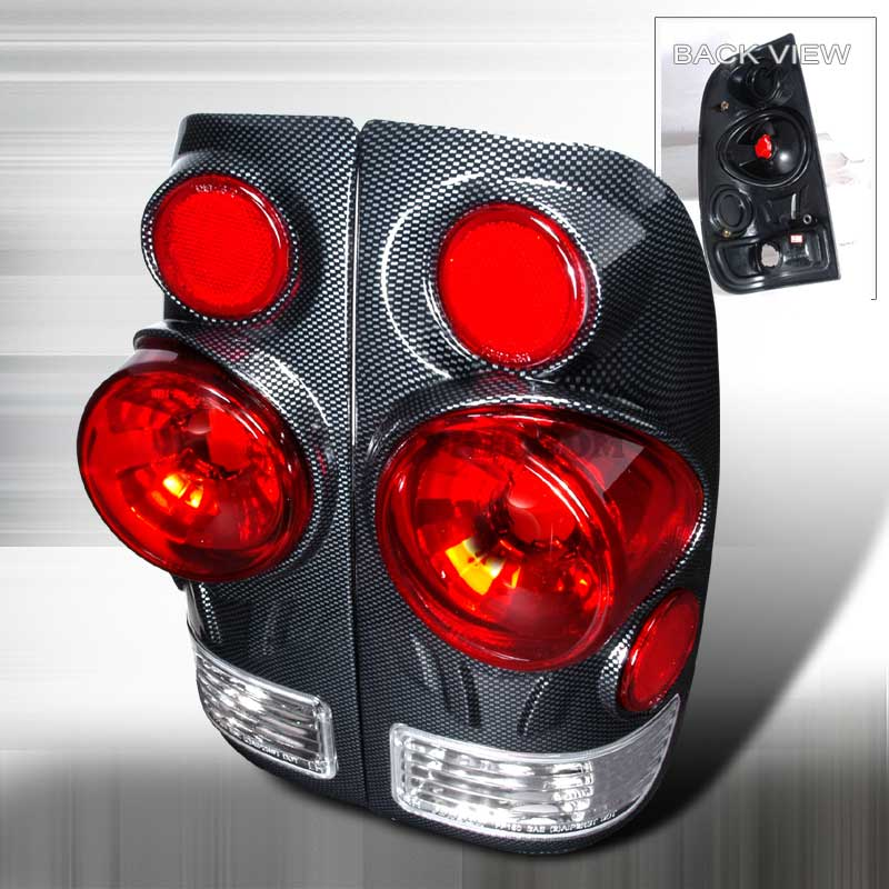 1997-2003 Ford F-150 3D Style Altezza Tail Lights - Carbon
