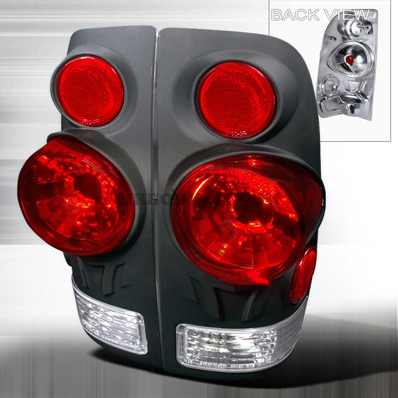 1997-2003 Ford F-150 3D Style Altezza Tail Lights - Black