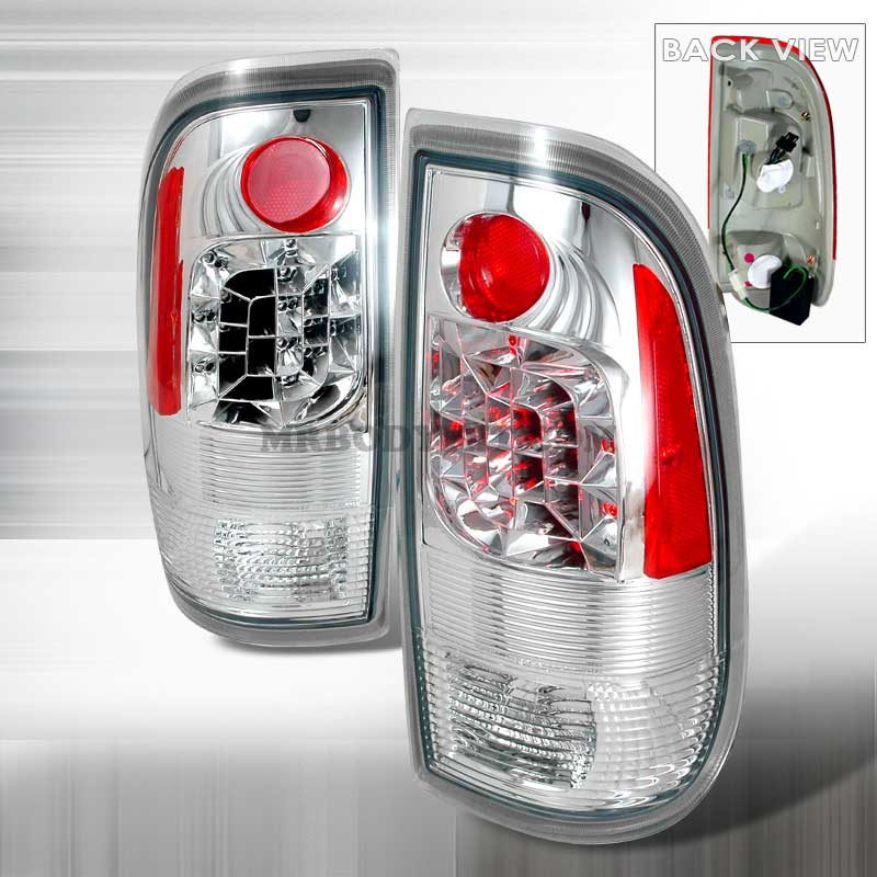 1997-2003 Ford F150 / F250 Euro LED Tail Lights - Chrome
