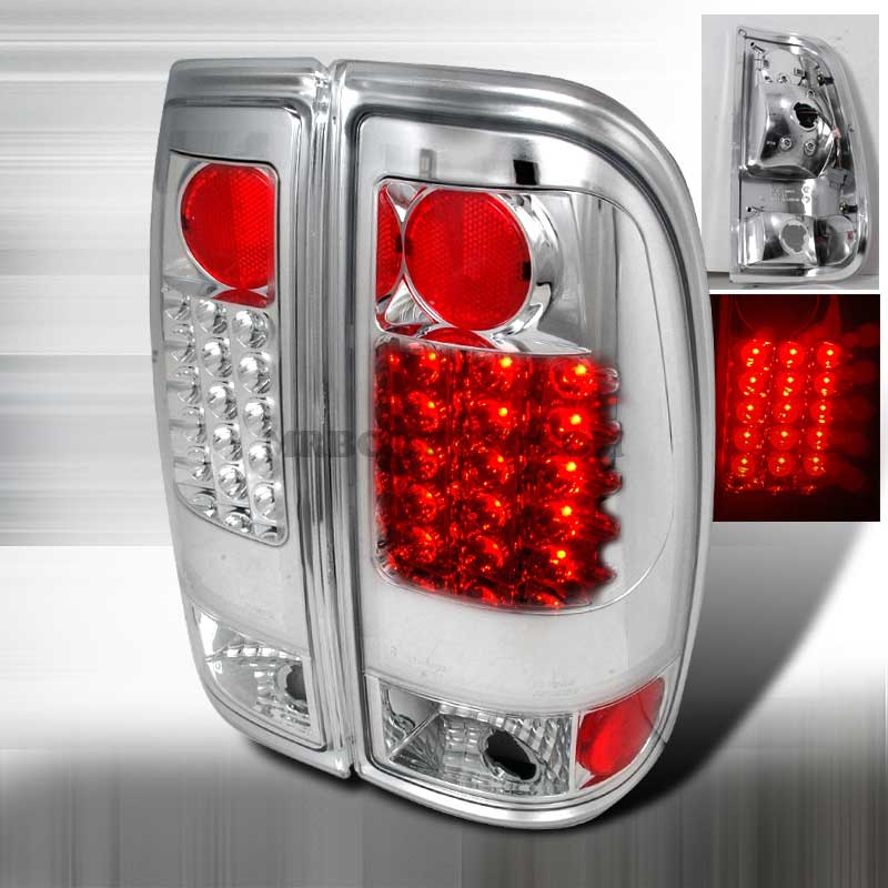 1997-2003 Ford F150 F250 LED Styleside Tail Lights - Chrome