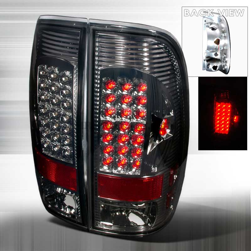 1997-2003 Ford F150 F250 Altezza LED Tail Lights V2 - Smoked