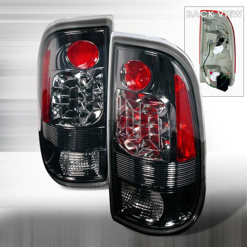 1997-2003 Ford F150 F250 Euro LED Tail Lights - Smoke