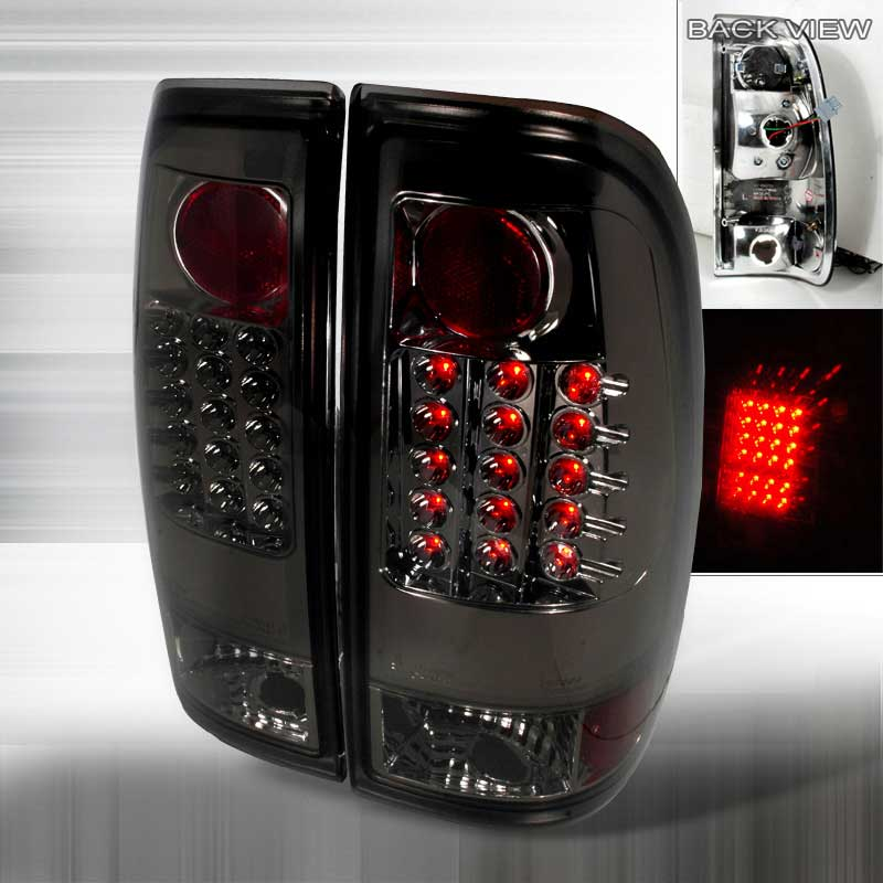 1997-2003 Ford F150 F250 Euro LED Tail Lights - Smoked