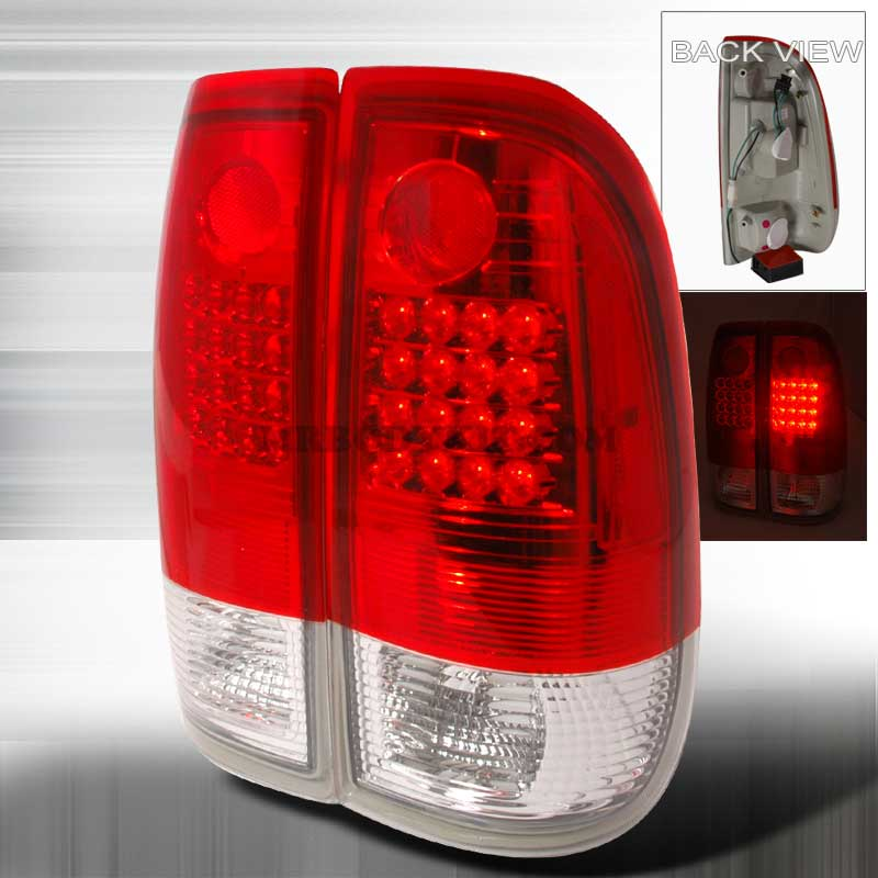 1997-2003 Ford F150 F250 G2 Style LED Tail Lights - Red