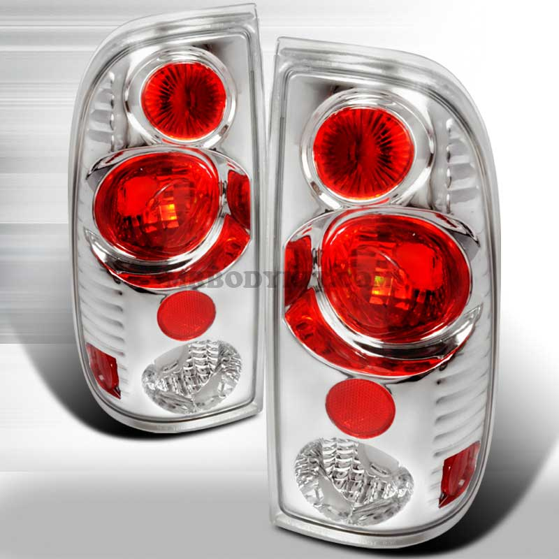 1997-2000 Ford F150 Styleside Gen 2 Tail Lights - Chrome