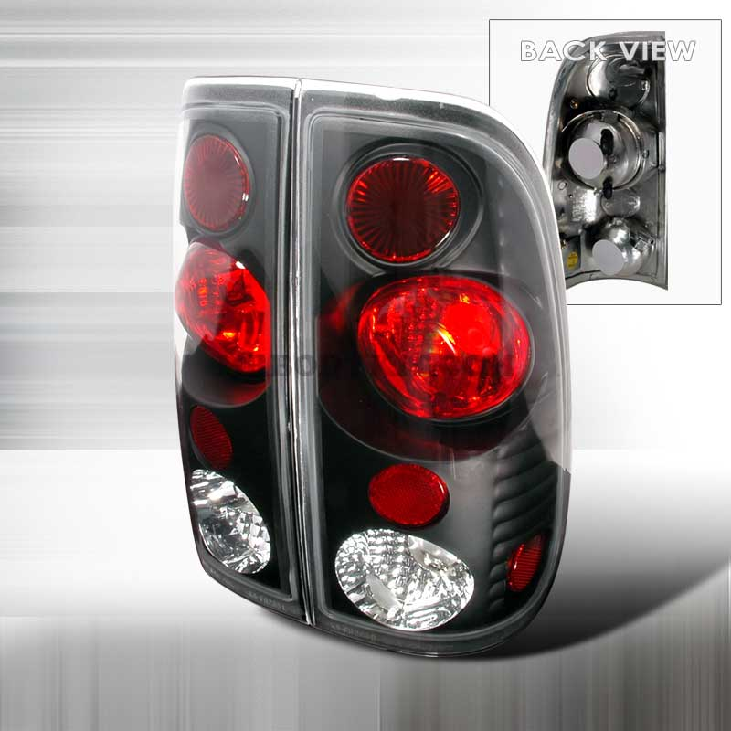 1997-2000 Ford F150 Styleside Gen 2 Tail Lights - Black
