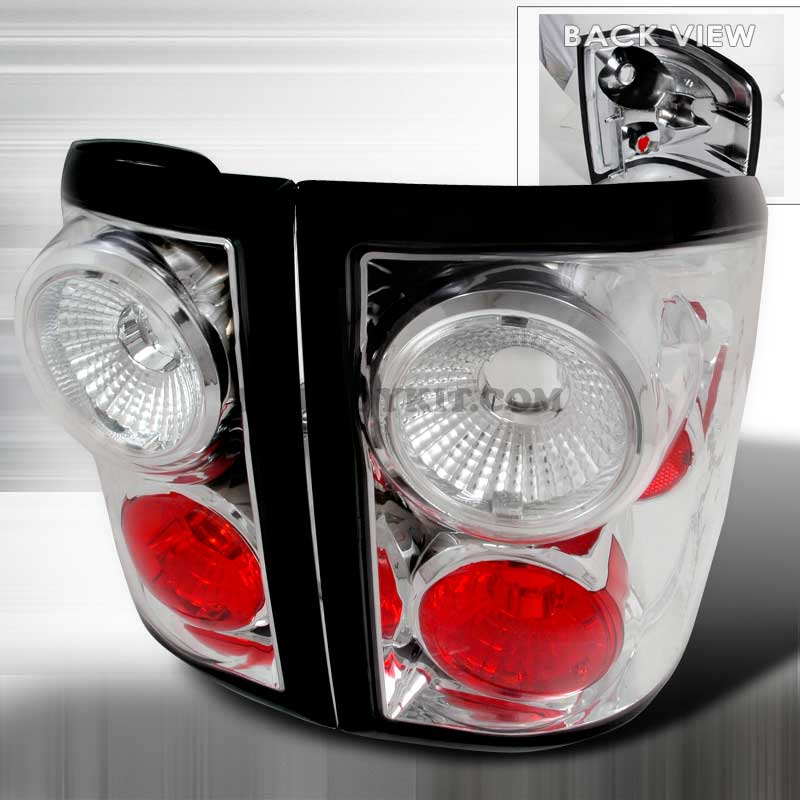 2004-2006 Ford F-150 Flareside Euro Altezza Tail Lights - Chrome