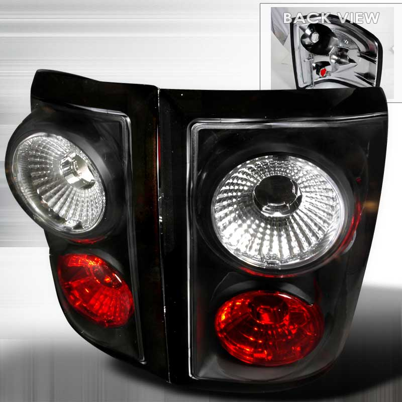2004-2006 Ford F-150 Flareside Euro Altezza Tail Lights - Black