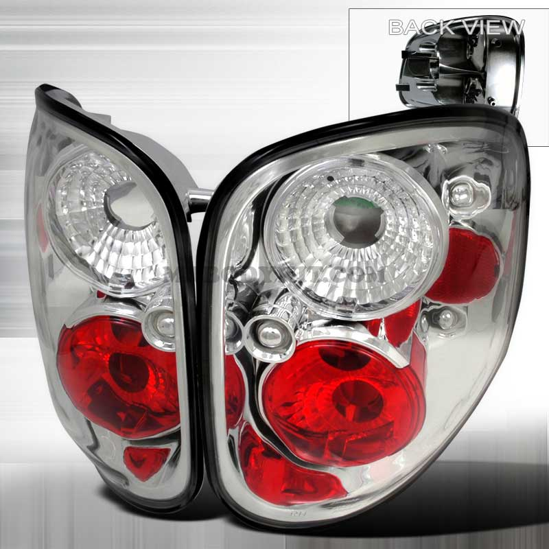 1997-2000 Ford F150 Flareside Altezza Tail Lights - Chrome