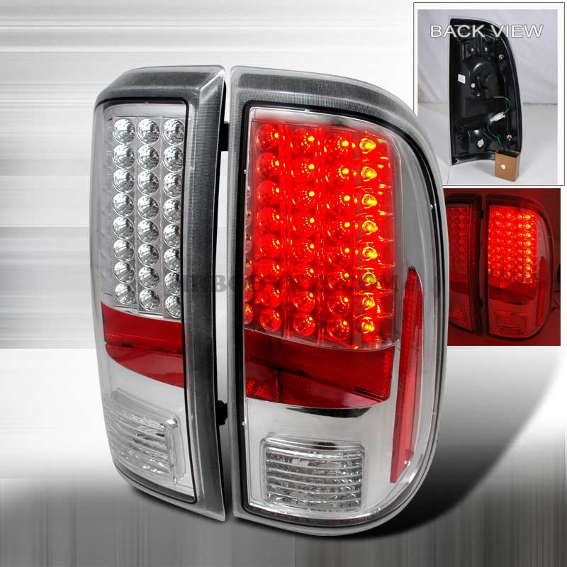 2008-2010 Ford F-250 / 350 / 450 Super Duty LED Tail lights - Chrome