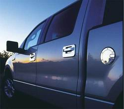 2000-2007 F250/F350 Billet Fuel Door (Brushed Chrome)