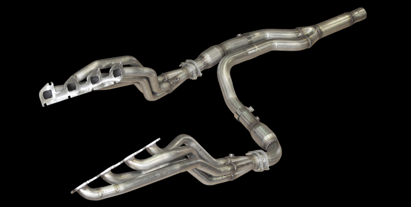 "2011 F150 Raptor American Racing 1 3/4"" Long Tube Headers w/ X Pipe - Catted"