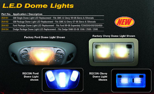 1999-2010 F-250/F350 Recon Lighting LED Dome Lights