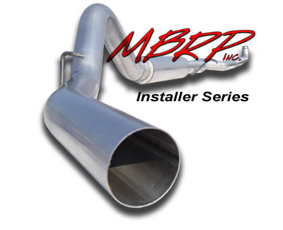 2008-09 6.4L F250/F350 MBRP 4 Inch Particulate Filter Back Exhaust System - Installer Series