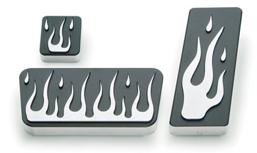 2004-08 F-150 Billet Pedal Kit (Flames)