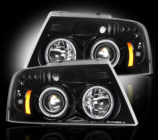 2004-2008 F-150 Recon Projector Headlights - Black