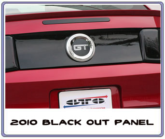 2010-2013 Mustang Taillight Covers & Center Cover Panel GTS SMOKED (Pair)