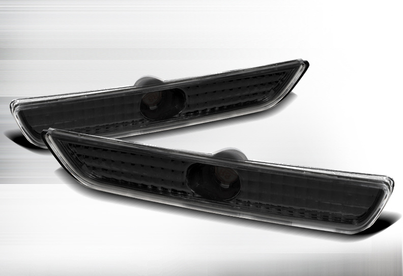 2010-2014 Mustang Front Bumper Reflector Parking Light - SMOKED (Pair)
