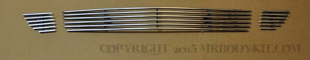 2015-2017 - 3PC Lower Billet Grille - POLISHED (GT ONLY)