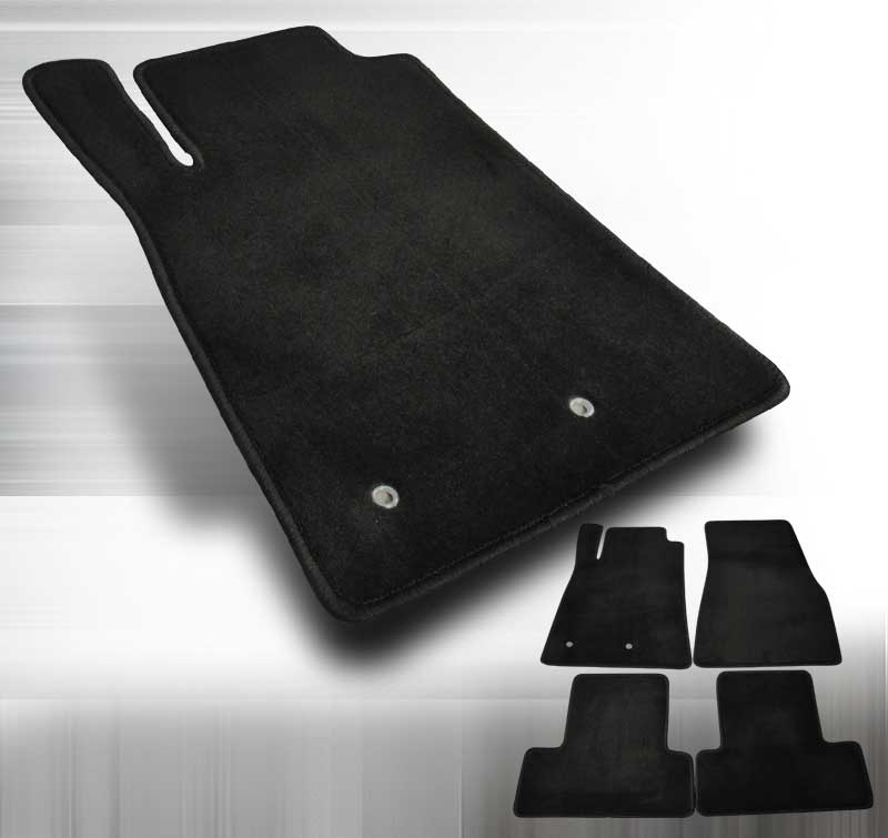 2005-2010 Mustang Coupe / Convertible- Black 4PC Floor Mat kit - Black