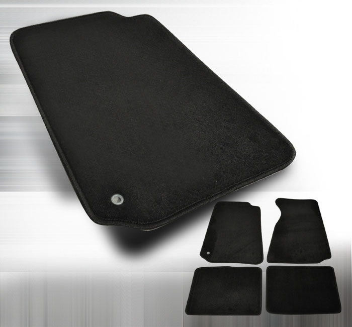 1994-2004 Mustang 94-04 Coupe / 99-04 Convertible Floor Mats - Black 4PC Floor Mat kit - Black - No Logo