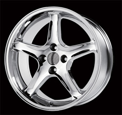 "COBRA R - CHROME - 4 Lug 79-93 (sizes available 16"", 17"")"